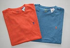 New Men's Polo Ralph Lauren Lot of 2 T-shirt, Blue, Orange, L, Large