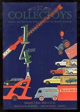 COLLECTOYS  14 eme  vente de jouets anciens     3 juin 2000