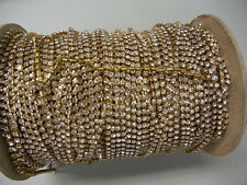 3 foot length,swarovski rhinestone chain,32pp crystal/unplated brass