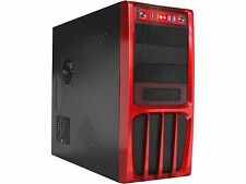 Rosewill R536-Red Black/Red Panel ATX Mid Tower Computer Case 500W Power Supply