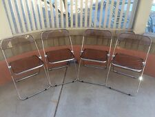 Mid Century Anonima Castello Lucite Folding Chairs Italy Authentic