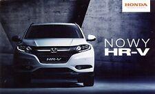 Honda HR-V MY2016  2015 catalogue brochure polonais Poland