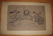 JAPON JAPONISME ESTAMPE JAPONAISE 1909 ARTISTE A DETERMINER 2