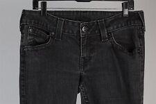 True Religion World Tour Womens Gray Denim Stretch Jeans Size 32 x 35
