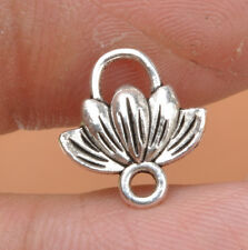20pcs Tibetan Silver Charms lotus flower Connectors fit Jewelry Findings 12x11mm