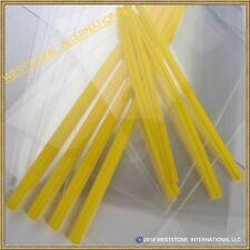 """50pcs (6"""" Yellow Lollipop Stick + Bag + Twist Tie) for cake pops Lollipop Candy"""