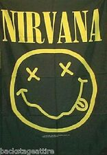 "Nirvana Kurt Cobain Smiley Face 29""X43"" Cloth Fabric Textile Poster Flag-New!"