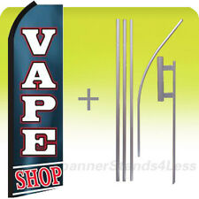 Feather Swooper Banner Sign Flag 15' Kit- VAPE SHOP bz (e-cigarette vapor)