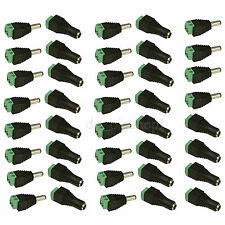 20 PAIRS 12V Male+Female 2.1x5.5MM DC Power Jack Plug Adapter Connector for CCTV