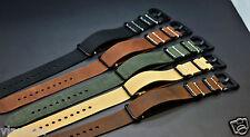 LEDER NATO armband G10 ZULU strap Uhrenarmband Durchzugsband size 20-26mm