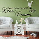 Removable Wall Sticker Vinyl Quote Mural Home Art Living Room Decal Decor DIY