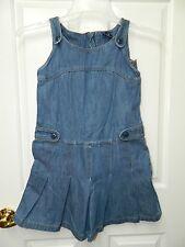 GAP KIDS girls Blue Denim Pleat Jumper DRESS* L 10