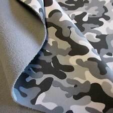 Stoff Meterware Softshell Camouflage Tarndruck grau wasserabweisend Outdoor Neu