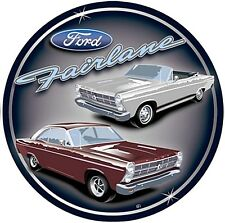 Ford Fairlane round metal wall sign  300mm diameter (sf)