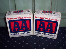 2 Old Winchester Western AA 12 Gauge Empty Trap Loads Ammo Boxes Nice