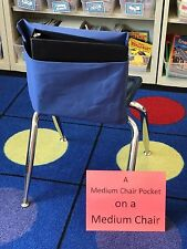 """1 MEDIUM SEAT SACK CHAIR POCKET  Fits Chairs 13"""" WIDE or Smaller Many Colors"""