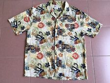 VINTAGE WALT DISNEY WORLD MICKEY MOUSE AND GOOFY SURFING HAWAII SHIRT RAYON M