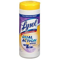 LYSOL Dual Action Disinfecting Wipes, Citrus Scent 35 ea