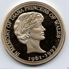 Princess Diana Gold Coin English Great Britain London Royalty Royal Family Retro