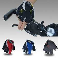 Red Cycling Ride Bike Bicycle Sillcone Half Finger GEL Gym Sport Gloves L Size