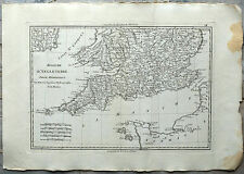 Carte ancienne BONNE antique map 1787 ANGLETERRE Sud England Somerset London 74