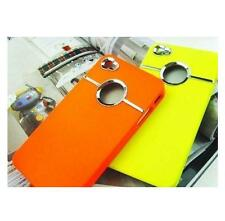 YELLOW & SILVER CHROME HARD CASE FOR IPHONE 4 4S4G With Screen Protector & Cloth