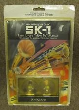 Vintage Fun With Casio SK-1 Operators Guide and Cassette Tape Sampling Sounds