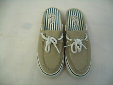 B227 WOMEN'S SPERRY TOP SIDER CANVAS BOAT SHOES    SIZE 7M  EXCELLENT CONDITION
