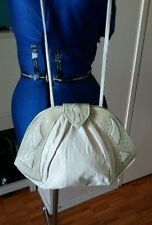Vintage (80s  or 90s) beige or off white medium purse crossbody or clutch