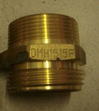 NEW DIXON FIRE HYDRANT HEX DOUBLE MALE BRASS ADAPTER DMH1515F