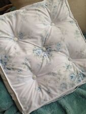 """Simply Shabby Chic British Rose Seat Chair Cushion~17"""" X 17"""" Square~Blue Roses!"""