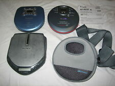 LOT (3) VINTAGE WORKING AUTHENTIC PORTABLE CD PLAYERS SONY PANASONIC AIWA & CASE