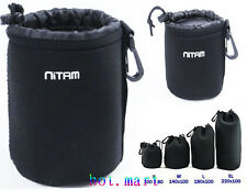 1 PCS DSLR Camera Lens Neoprene Pouch bag Case For Cannon Nikon Sony ( S )BAG