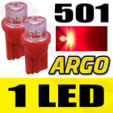 2 X RED LED BULBS 501 CONCAVE T10 ULTRAVISION 12V WEDGE INVERTED
