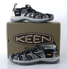 NIB Keen Whisper Womens 10 MED Sandals Water Shoes Hiking 1008448 Black/Gray NEW