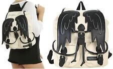 New CW Supernatural Castiel Puffy Wings Slouch Buckle Backpack Book Bag!