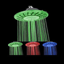 Plastic Toy Spray Water Flow Pressure Led Colour Changing Round Shower Head Bath