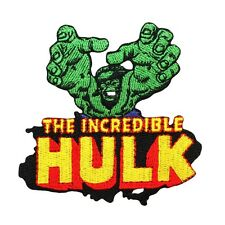 "Retro Comic ""The Incredible Hulk"" Logo Avengers Superhero Iron-On Applique Patch"