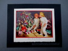 Vintage Loren Barton Sample Xmas Greeting Card Children Ready to Open Presents