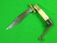 Antique British English Sheffield Made For Export Folding Bowie Knife