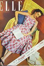MAGAZINE ELLE N° 298 de 1951 MODE COUTURE ROBES D ETE SOULIERS PLATS VESTE