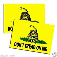 DON'T TREAD ON ME Gadsden Flag Freedom Military Coiled Snake Sticker 2Pack D190