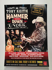 TOBY KEITH 2014 Hammer Down Under Australian Tour Poster A2 Bris Syd Melb ***NEW
