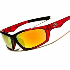 Athletic Baseball Golf Driving Cycling Running Red Mens Wrap Sport Sunglasses