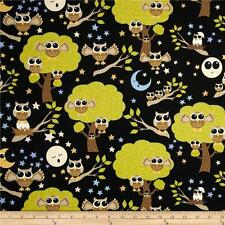 "RJR Dan Morris Kitschy Kawaii Black 100% cotton 44"" fabric by the yard"