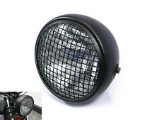 "7.7"" Black Mesh Grill H4 55W Retro Headlight for Harley Davidson Scrambler Bike"