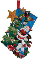 """The Finishing Touch Stocking Felt Applique Kit-18"""" Long"""