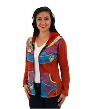 Paws for Celebration Hooded Jacket - COLORFUL PAW PRINT JACKET Fair Trade Nepal
