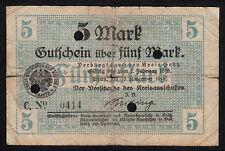 Grätz -Kreis- Notgeldschein zu 5 Mark vom 10.11.1918