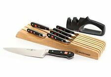 Wusthof Classic 8pc In-Drawer Knife Block / Tray Set with 2-Stage Sharpener